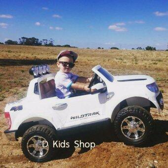 รถเด็ก รถแบตเตอรี่ 2 มอเตอร์ รถกะบะ Ford Ranger ลิขสิทธิ์แท้ มีรีโมทบังคับได้ สีขาว