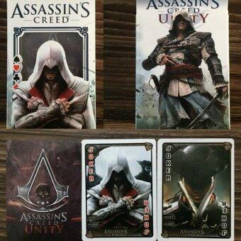 ขาย 2 pairs of 54Pcs/set Assassins Creed Figures Collection Poker Cards Assassins Creed Playing Cards Color Box Packing Kid Together Game Toy - intl