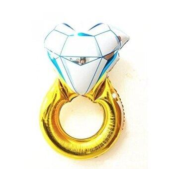 2 Pcs Diamond Engagement RING Bling 40 Bridal Shower Wedding Mylar Foil Balloon HD035A - intl