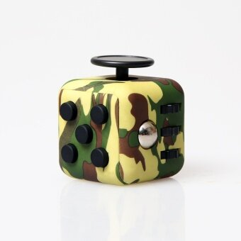 20 pcs The United States Fidget cube anti pressure decompression decompression cube Shouyang dice creative toys & gifts irritabilityCamouflage green - intl