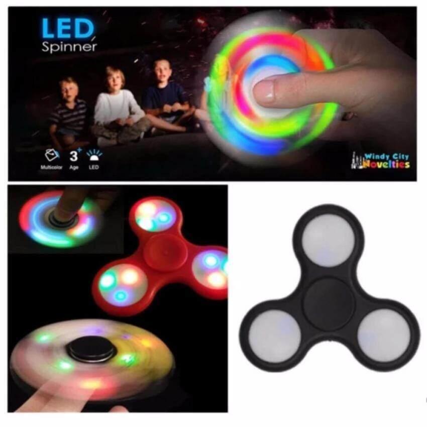 ของเล่นใหม่ ปี 2017 มือหมุนไฟ LED 3 ขา, LED TRI-FIDGET SPINNER