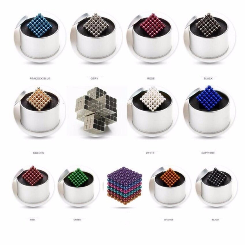 216Pcs 5MM Buckyball Magnet Balls Magic Beads 3D Puzzle Ball Educational Toy With Box - intl