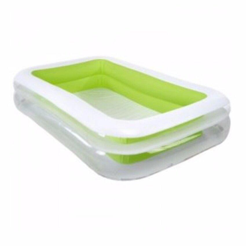 สระเป่าลม สระว่ายน้ำเด็ก ขนาด 2.5 เมตร จุน้ำได้ 769 ลิตร ขอบสระหนากันกระแทก INTEX รุ่น 56483 ของแท้ (green)