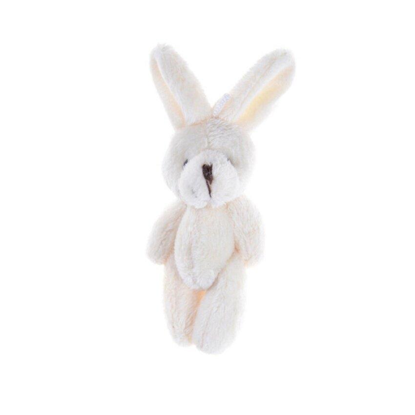 2Pcs/Set 11.5 cm Wedding Gift Joint Rabbit DIY Pendant Plush Stuffed TOY For Baby Kid Beige 11.5cm - intl