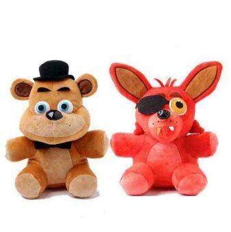2pcs/set Five Nights At Freddy's 4 FNAF Foxy Fox Freddy FazbearBear Doll stuffed animals Plush Toys 10