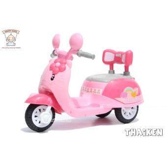 รถมอเตอร์ไซค์ 3 ล้อ คุณหนู คิตตี้ 3207 (สีชมพู) Children Electric Ride-On