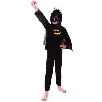 ชุดชั้นใน + กางเกง 3 ชิ้น + คอสเพลย์ชุดฮาโลวีนสำหรับเด็กชาย(Batman)- intl
