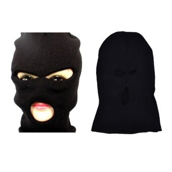 3 Hole Face Mask Ski Mask Winter Cap Balaclava Hood Army TacticalMask - intl