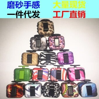 3 pcs New camouflage  pressure  compression  decompression  Rubik's cube  fidget  cube  vent anxiety toys  dice artifact31# grain color - intl