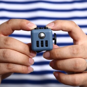 3 pcs Spot Fidget anti anxiety cube  FRET box  relieve pressure  decompression cube  decompression artifact  toy batch5# rose red - intl
