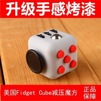 3 pcs The United States Fidget cube cube resistance spot decompression anxiety decompression dice homegrown manufacturers3- black green - intl