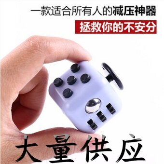 3 pcs The United States Fidget cube cube resistance spot decompression anxiety decompression dice homegrown manufacturersBlack and red - intl
