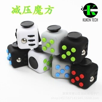 3 pcs The United States Fidget cube resistance anxiety cube  decompression artifact  decompression dice  irritable cube cube toyscustom color - intl
