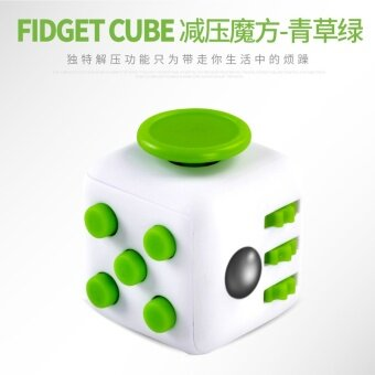 3 pcs ?tl003?fidget Toy cube?Green and white - intl