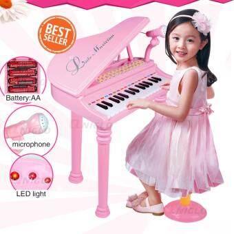 31 keys คีย์บอร์ดและเปียโนเปียโนดิจิตอล เครื่องดนตรี คีย์บอร์ดแบบพกพา toy for kids(สีชมพู)