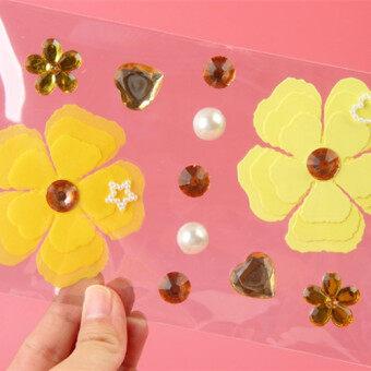 สติ๊กเกอร์ 3D หรูหราดอกไม้สามมิติสติกเกอร์