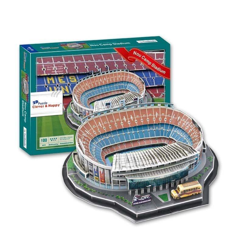 โมเดล3D Puzzleสนามฟุตบอลทีมบาเซโลนา(Camp Nou)