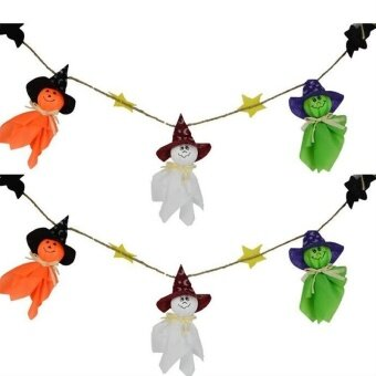 3Pcs Halloween Hanging Decoration Stylish Ghost Pattern CreativeHanging Ornaments for Kindergarten - intl