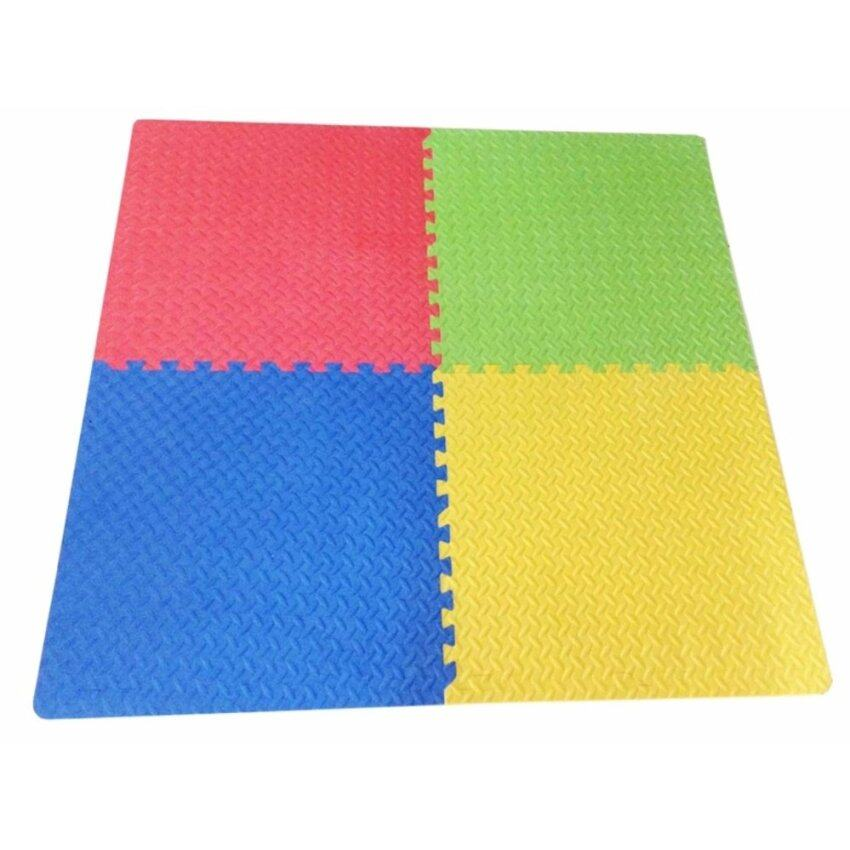 แผ่นรองคลานสำหรับเด็กแบบจิ๊กซอ 4 แผ่น (สีเขียว สีน้ำเงิน สีเหลือง สีเหลือง)