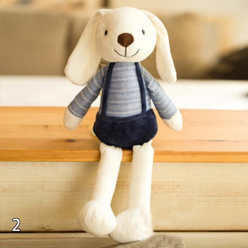 40CM Cute Long Ear Rabbit Plush Toy Stuffed Doll Lover Birthday Gift Blue - intl