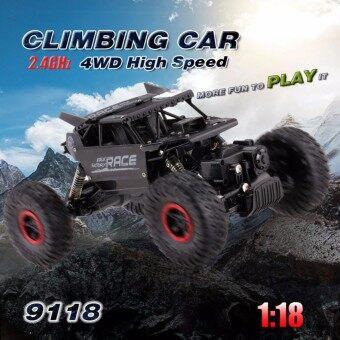 รถไต่ภูเขา 4WD ตัวถังบอดี้โลหะ 9118 Alloy Monster Rock Crawler - Black