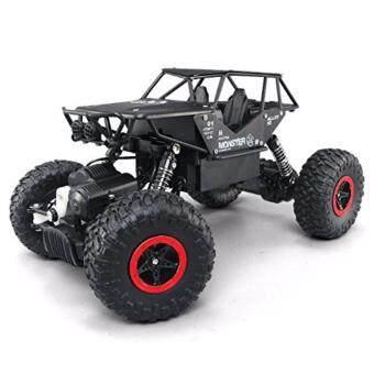 รถไต่หินบอดี้โลหะ 4WD Alloy Monster Rock Crawler - Black