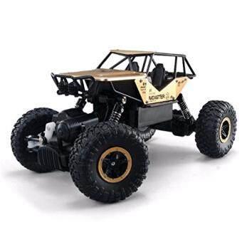 รถไต่หินบอดี้โลหะ 4WD Alloy Monster Rock Crawler - Gold