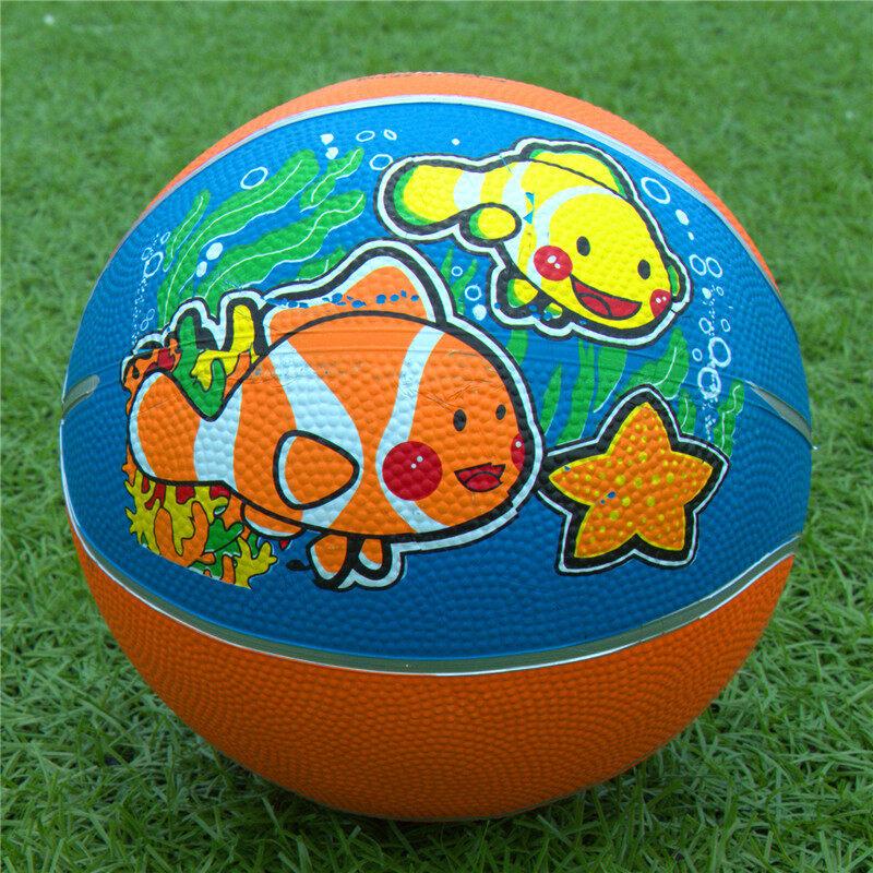 ทารกการ์ตูนเด็กของเล่นยางบาสเกตบอลฉบับที่ 5 บาสเกตบอล pat ลูก