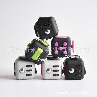 5 pcs  Fidget Cube  Black powder - intl