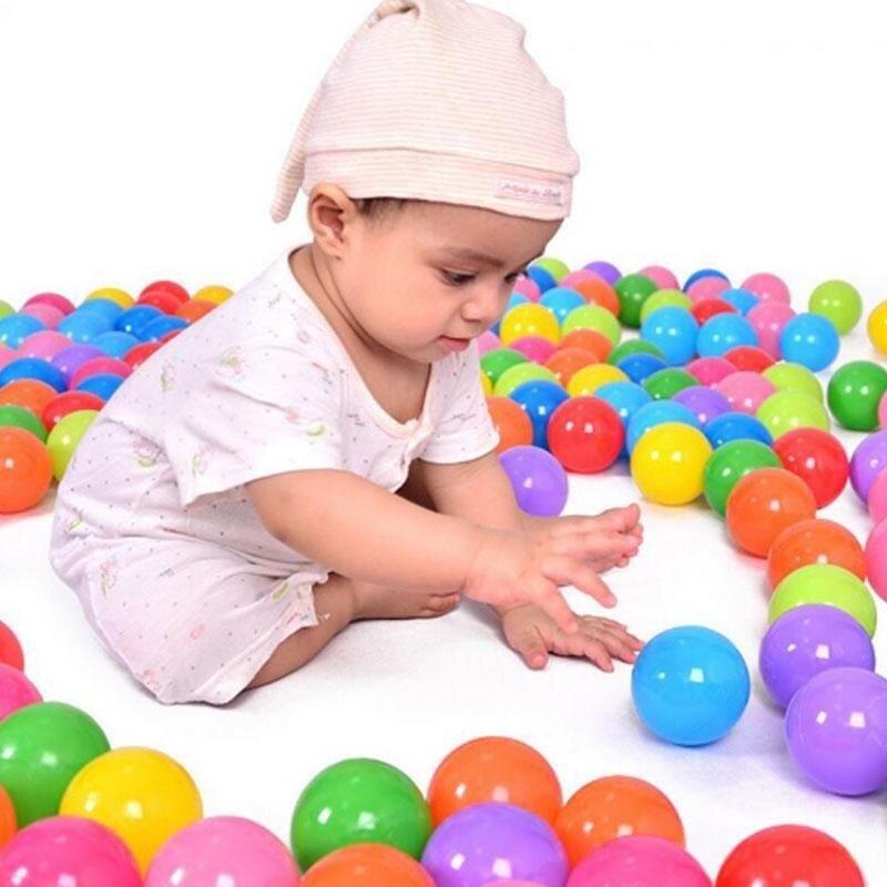 50 Pcs/lot Eco-Friendly Colorful Ball Soft Plastic Ocean Ball - intl