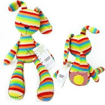 50cm Colorful Stripe Rabbit Soft Plush Toy Bunny Rabbit brinquedoBaby Placate Toy Children's Christmas Gifts - intl