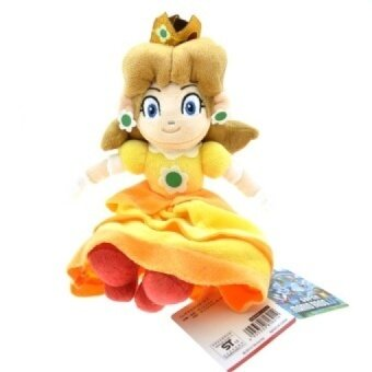 5pcs/lot 30cm Sitting Super Mario Bros Princess Daisy Plush Toys Doll Soft Stuffed Toys With Tag for Girl Christmas Gifts - intl