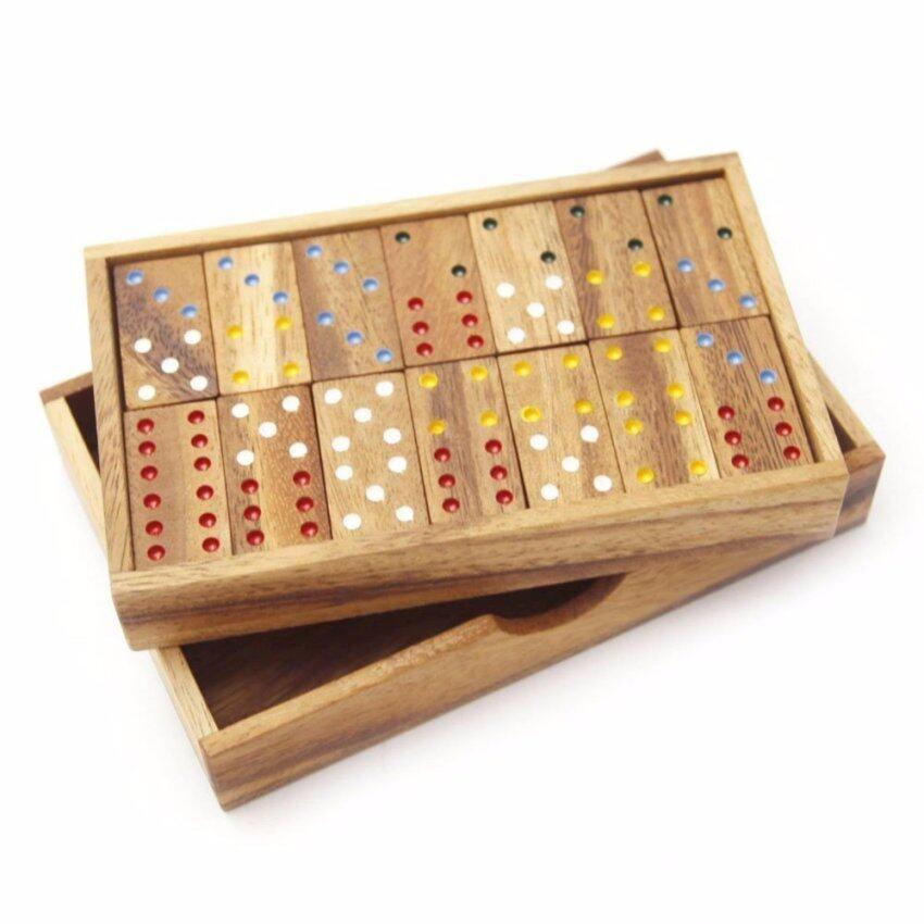 ขาย โดมิโน่ 6 จุด ขนาดเล็ก (Six Domino - S) โดมิโน่ 2 ชั้น เล็ก (สีน้ำตาลแดง)