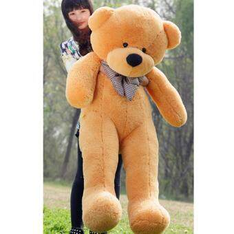 60cm Fluffy toys Plush Cloth Doll Toy Plush Stuffed Animals GiantTeddy Bear Toys (Light Brown) - intl
