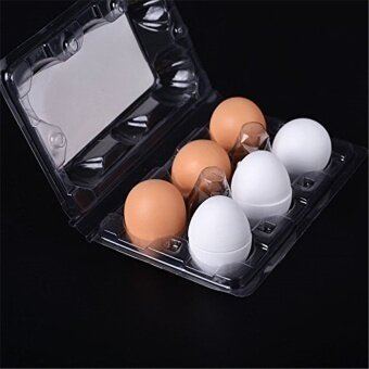 6Pcs Wooden Easter Eggs Yolk Pretend Children Play Kitchengame Cook Food Kids Toy - intl