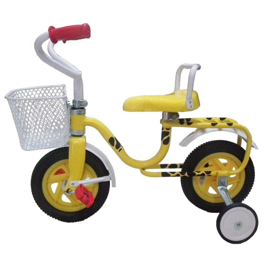 จักรยานถีบล้อหน้า ขนาด 8 (สีเหลือง) image