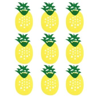 9pcs Non-woven Pineapple Bunting Banner Birthday Room Baby Shower Decor - intl