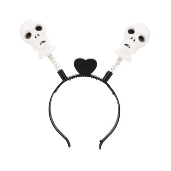 ABS LED Headband Skull Pumpkin Light Circlet Headwear Halloween Props Decoration - intl