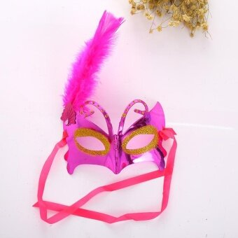 Adults Halloween Feather Christmas Masquerade Ball Dance PartyCarnival Eye Mask - intl