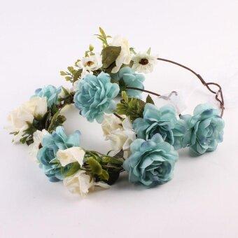 AJKOY-Baby Kids And Monther Rose Flower Headband Hairband WreathHeaddress – intl