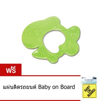 Alpha Baby ยางกัดรูปปลา - เขียว (แถมฟรี แผ่นติดรถยนต์ Baby on Board) ...