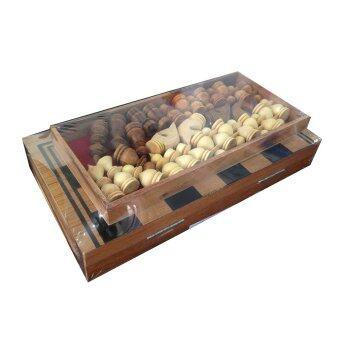 Ama-Wood ชุดหมากรุกฝรั่ง กลาง (Wood Folding Chess Set Medium)