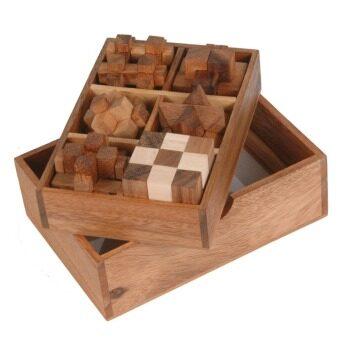Ama-Wood ของเล่นไม้ชุด 6 ชิ้น (6 Wooden Puzzle Gift Set)