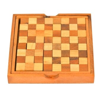 Ama-Wood ของเล่นไม้ตัวต่อหมากฮอส Chess Puzzle - ใหญ่