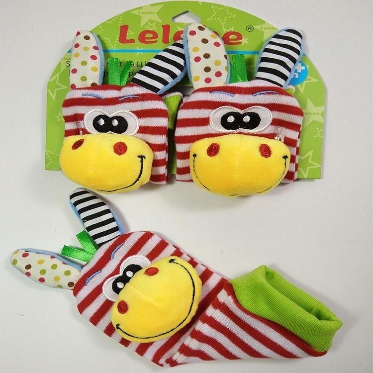 Arctic Land 1Pcs Calm Baby KidS Infant Newborn Cute Cotton Plush Animal Bell Socks Toy - intl