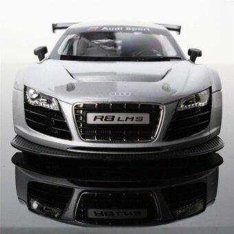 รถบังคับวิทยุ รถแข่งของเล่น อุปกรณ์ครบพร้อมเล่น รุ่น Audi R8 สเกล 1 : 14 (สีเทา)