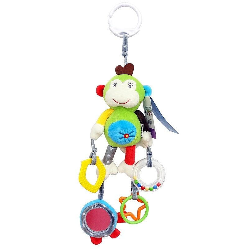 Baby Animal Clip Rattles Toy Kids Soft Plush Toy Infant Stroller/Bed/Crib Hanging Toys - intl