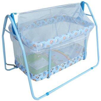 Baby Cradle เปลไกวเครเดิร์น รุ่น C-023 (สีฟ้า)