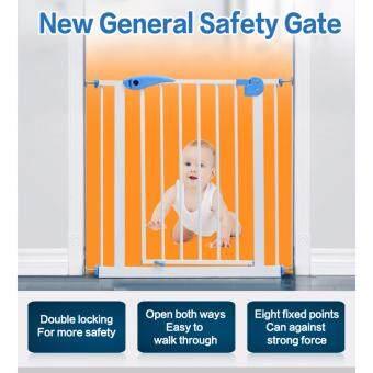 รั้วกั้น Baby Gate ขนาด 95-105cm แถมเหล็กตัวยู 2 ชิ้นสำหรับใช้กับบันไดแบบขาเล็ก