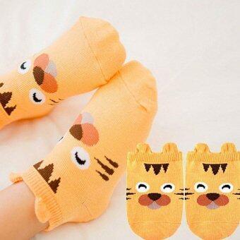 Baby Touch ถุงเท้าเด็ก สั้นบาง สวนสัตว์ (เสือ)